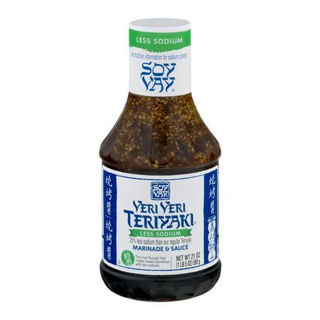(2 Pack) Soy Vay Marinade & Sauce, Veri Veri Teriyaki Less Sodium, 21 oz