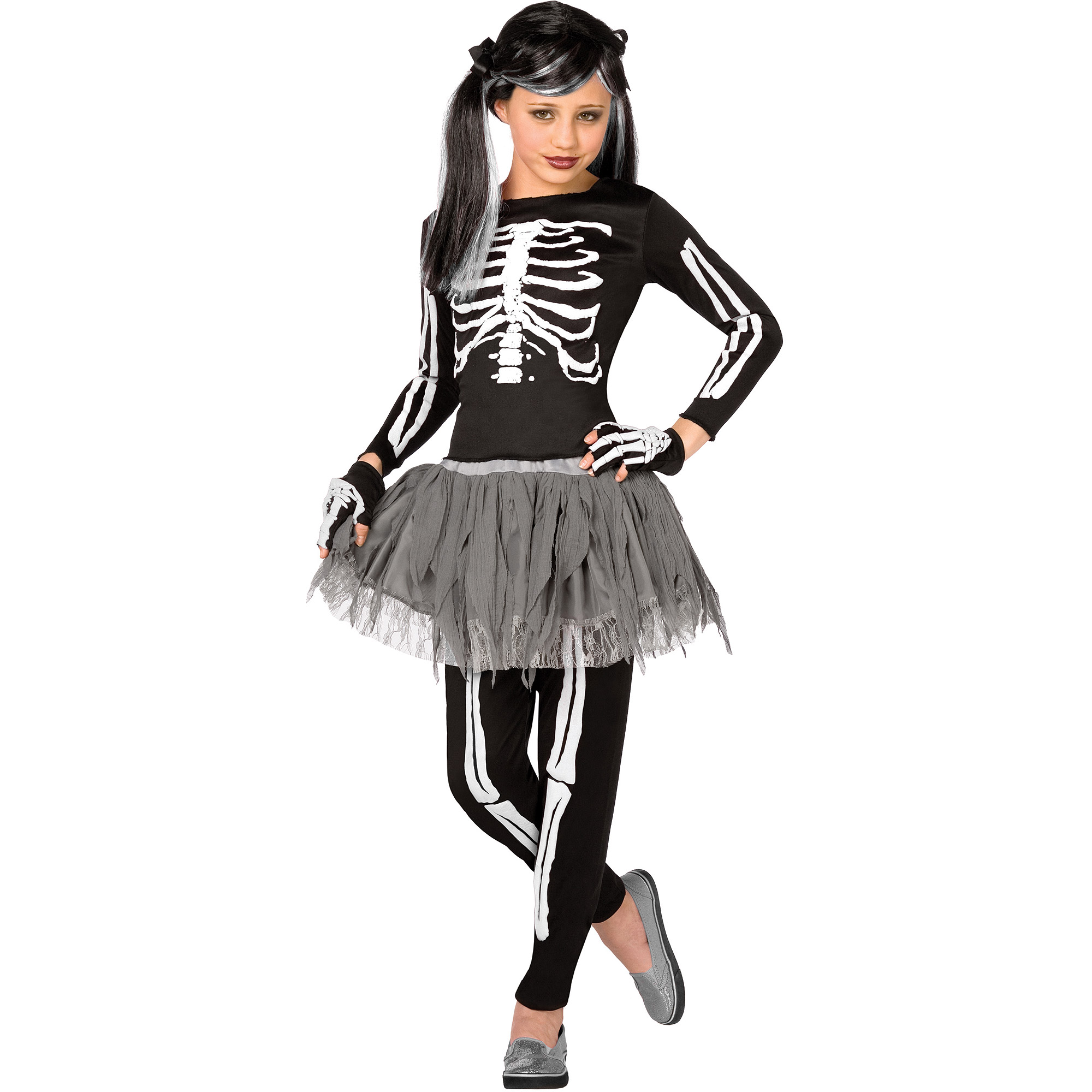 White Skeleton Child Halloween Costume