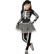 Girl White Skeleton Medium Halloween Dress Up / Role Play Costume