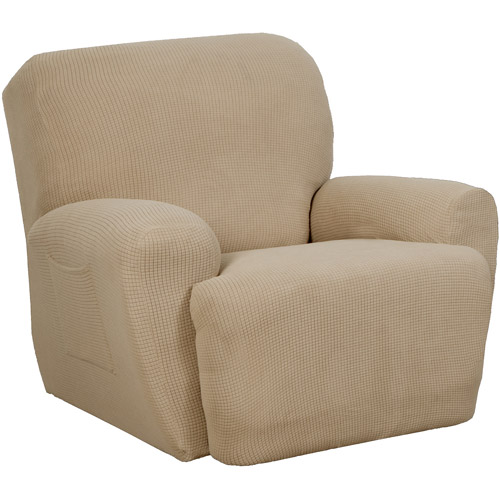 Maytex Stretch Reeves 4 Piece Recliner Chair Furniture Cover Slipcover