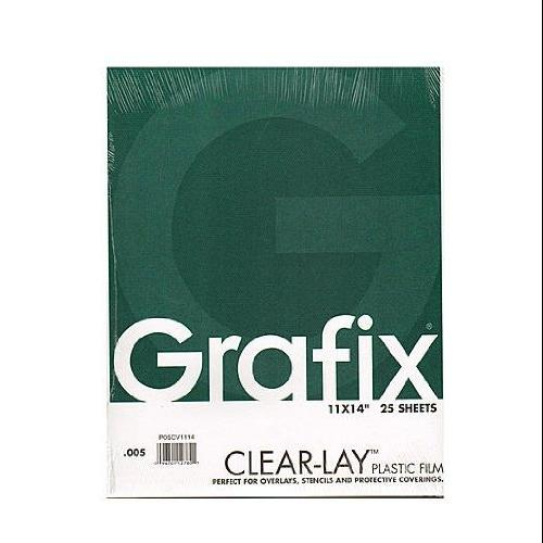 Grafix Clear-Lay Acetate Alternative 0.005 in. 11 in. x 14 in. pad of 25