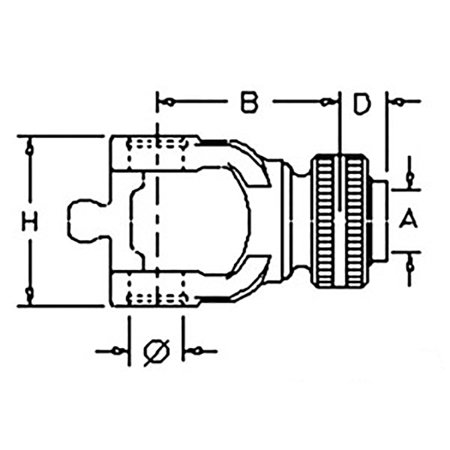 84053779 New Square Baler Yoke made to fit Ford 590 590C