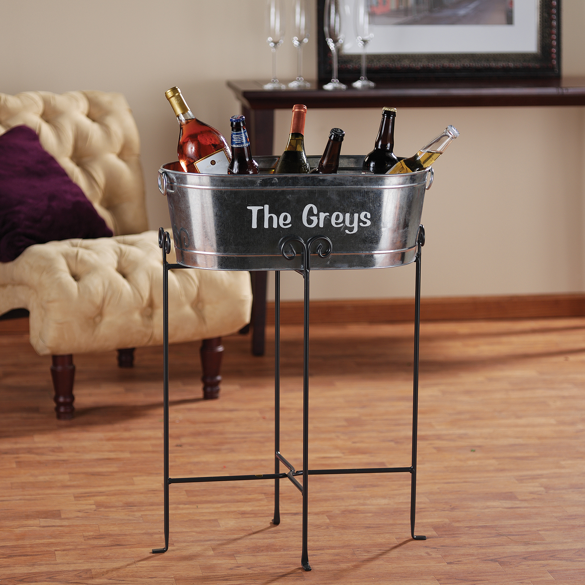 Picture of: Galvanized Beverage Tub Or Tub With Stand Walmart Com Walmart Com