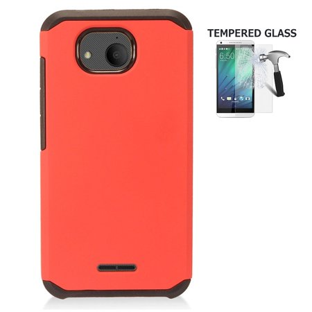 new styles 65267 35c7c Alcatel Tetra Case, Phone Case for Alcatel Tetra (5041C), Hybrid Shockproof  Slim Hard Cover Protective Case (Red)