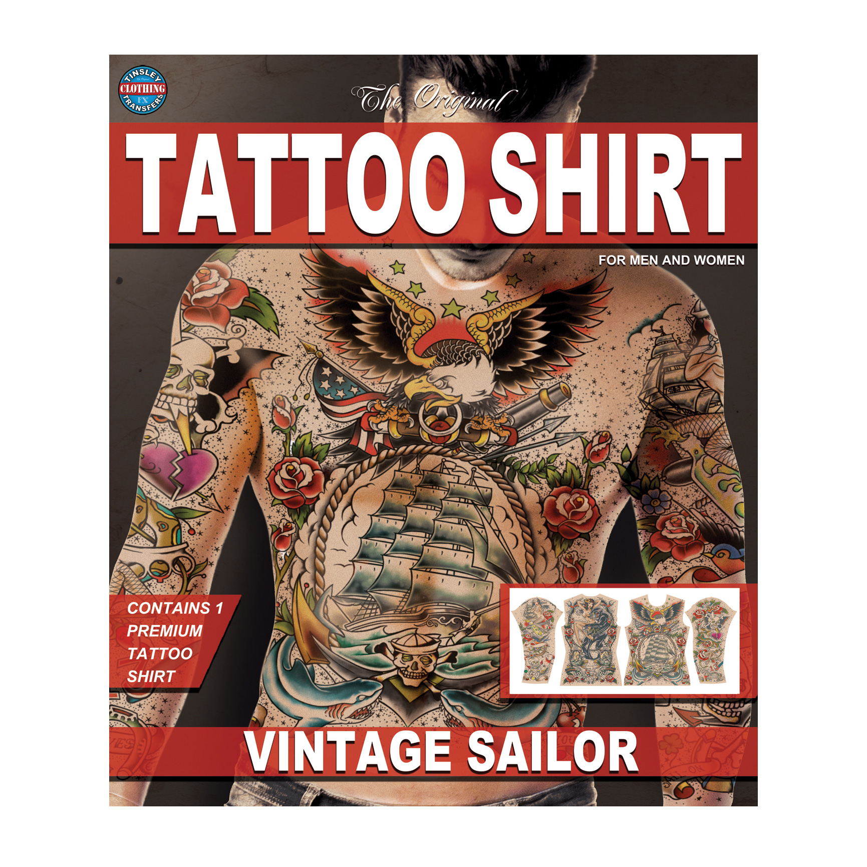 Tinsley Transfers Vintage Sailor Tattoo FX Shirt, Large/X-Large
