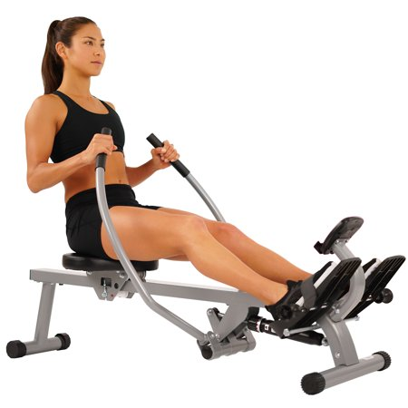 Total Motion Rowing Machine Rower with Full Arm Extensions, 350 lb Weight Capacity by EFITMENT - RW032