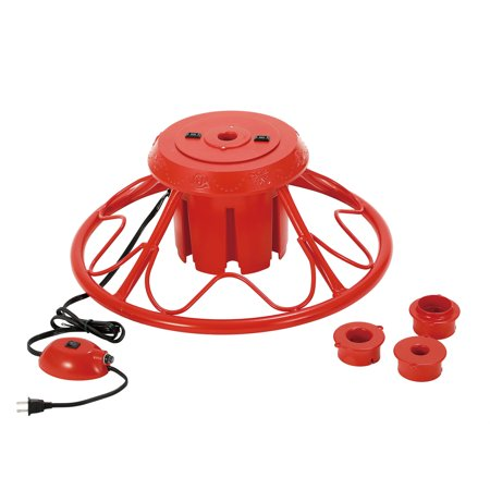Home Heritage Electric Rotating Stand Base for Artificial Christmas Trees, Red ()