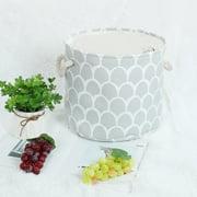 "Foldable Storage Bin Toy Laundry Basket for Home Organizer 13"" x 9.8"" Gray"