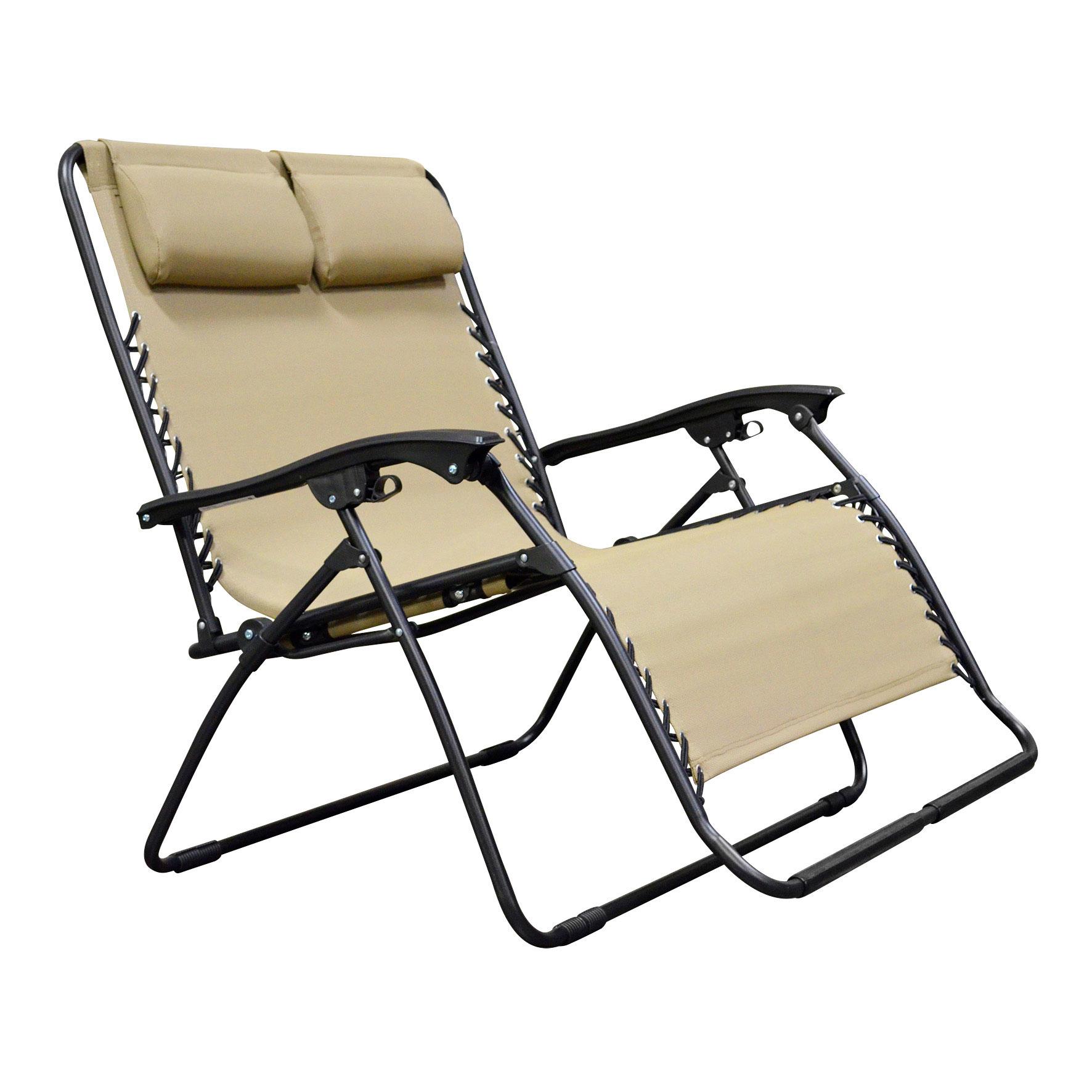 Caravan Canopy Infinity Zero Gravity Loveseat Steel Frame Patio Deck Lawn Chair
