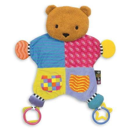 Amazing Baby Plush Bear Teether Blanket, 12