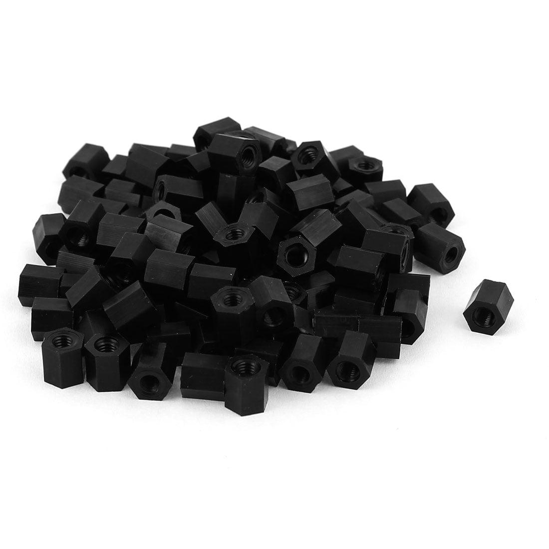 100 PCS M3x6mm Black Nylon Screw.