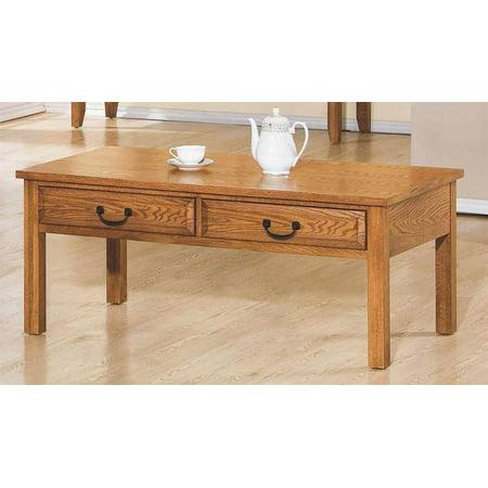 coffee table in light oak finish