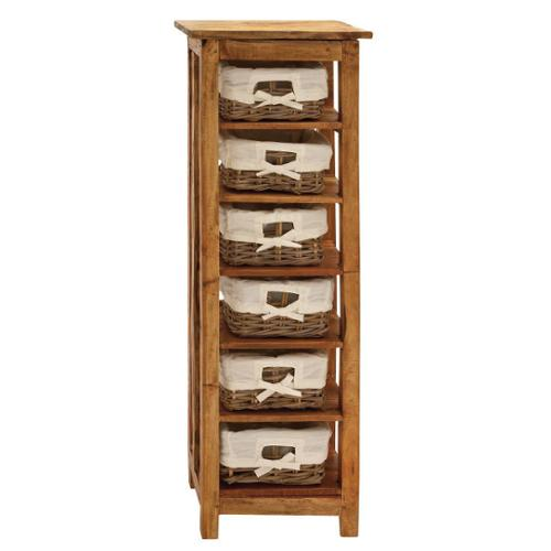 Studio 360 Wood Chest with 6-Rattan Drawers