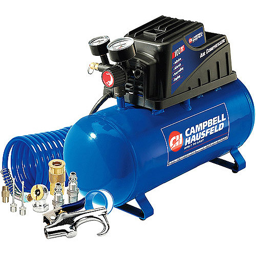 Campbell Hausfeld 3 Gallon, 110psi Air Compressor & 11pc Accessory Set Bundle