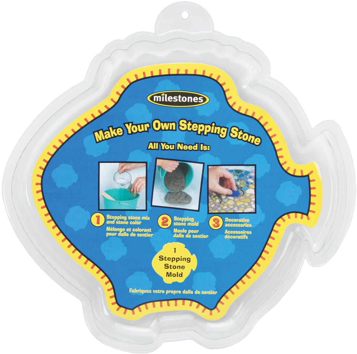 Stepping Stone Mold-Fish 12""