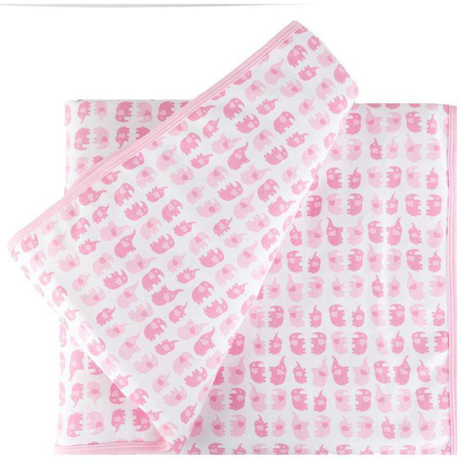Tadpoles Mod Zoo Elephant Receiving Blanket, Pink