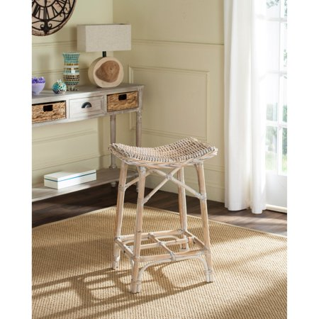 new style c6a74 d9633 Safavieh Rayna Wicker Bar Stool, Natural Washed