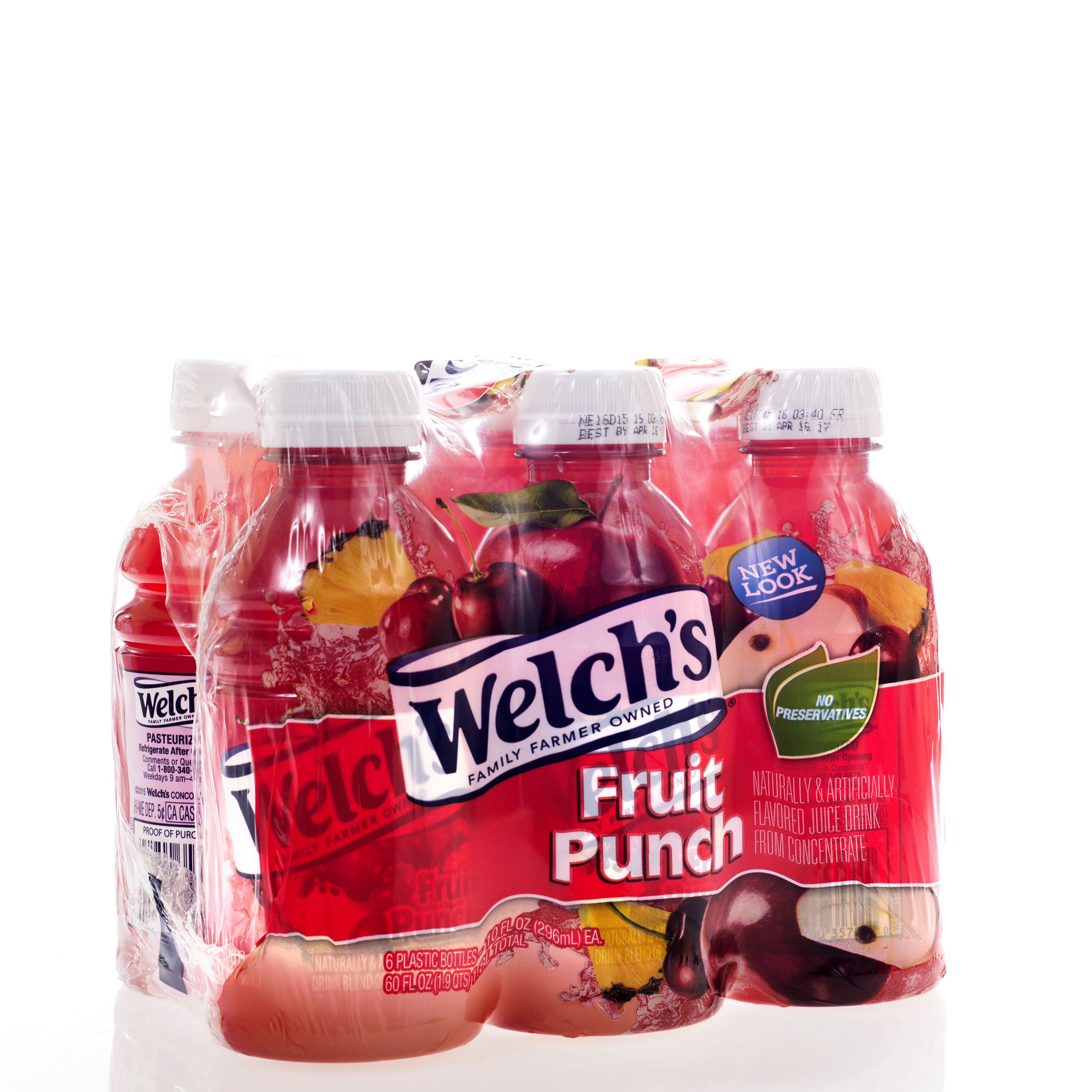 Welch's Fruit Punch Juice Drink 6 Pack