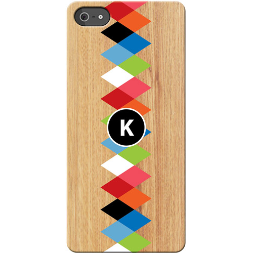 Personalized Colorful Initial I Phone 5 Case