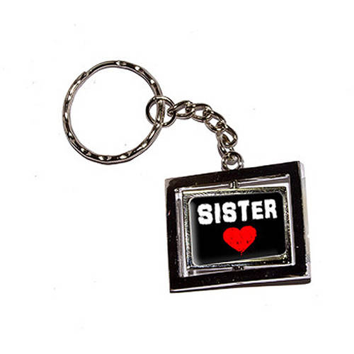 Sister Love Red Heart New Keychain Ring