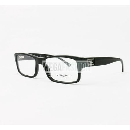 cf46b7f638 New Versace Eyeglasses VS 3141 GB1 Glossy Black Acetate 55 17 140 Authentic  - Walmart.com