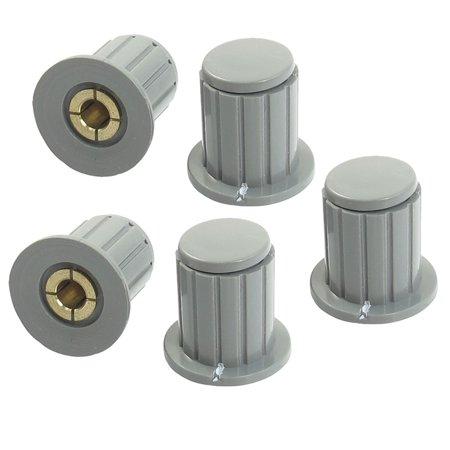 Knobs Fits Split Shaft (Unique Bargains 5pcs Volume Control 4mm Split Shaft Diameter Potentiometer Knobs Gray)