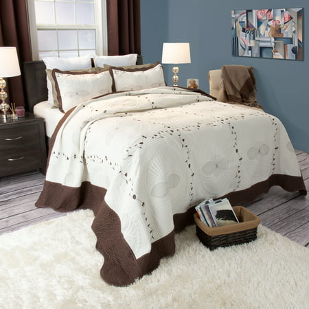 Embroidered Baby Quilt (Somerset Home 2pc Athena Embroidered Quilt Bedding)