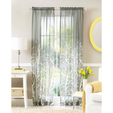 Better homes and gardens arbor springs semi sheer window Better homes and gardens valances for small windows