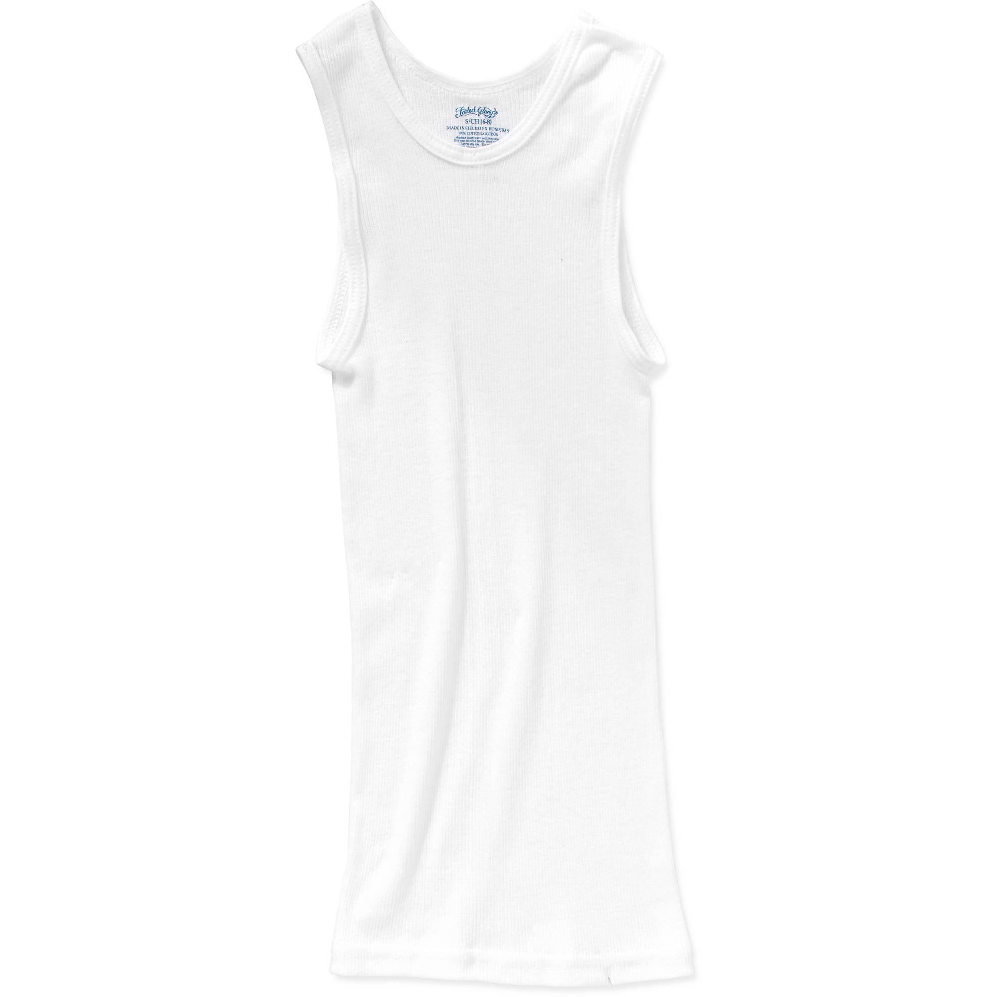 c7fd7577482b9 Faded Glory - Boys  A-Shirt Sleeveless Undershirt