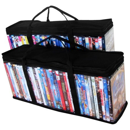 Evelots 2 Portable DVD Blue Ray Media Storage Case Bags Holds 72