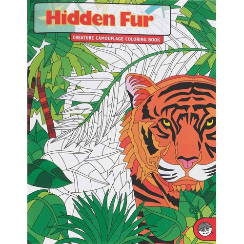 MindWare - Creature Camouflage Coloring Book - Hidden Fur Coloring Book