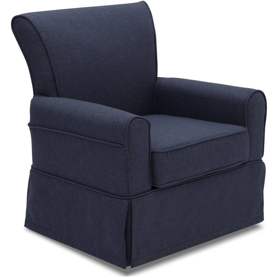 Delta Children Epic Nursery Glider Swivel Rocker Chair, Sailor Blue