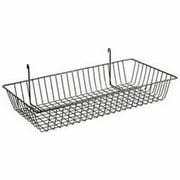 Lavi Industries 809326-BK Grid Wall Large Basket, Black Matte Black