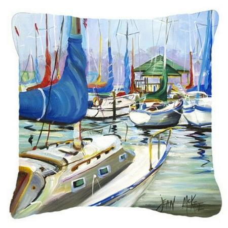 Carolines Treasures JMK1241PW1414 Day Break Sailboats Canvas Fabric Decorative Pillow - image 1 de 1