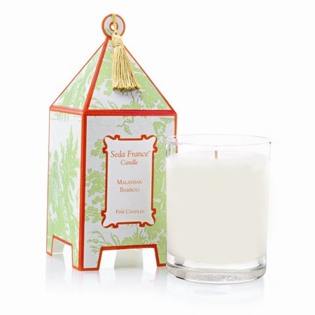 Seda France Malaysian Bamboo Classic Toile Mini Pagoda Box Candle 2oz