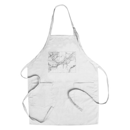 Canada - Detailed Map of Eastern Canada, New Brunswick, and Nova Scotia (Cotton/Polyester Chef's Apron) ()