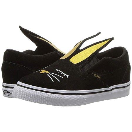 Vans Slip On Bunny Black/Gold Skate Shoes Size 11 Kids - Bunny Vans
