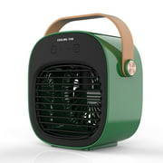 TOBERICH Portable Air Conditioner Evaporative Cooler Air Humidifier 3 Wind Speed Desktop Fan With Handle Desktop Cooling Fan