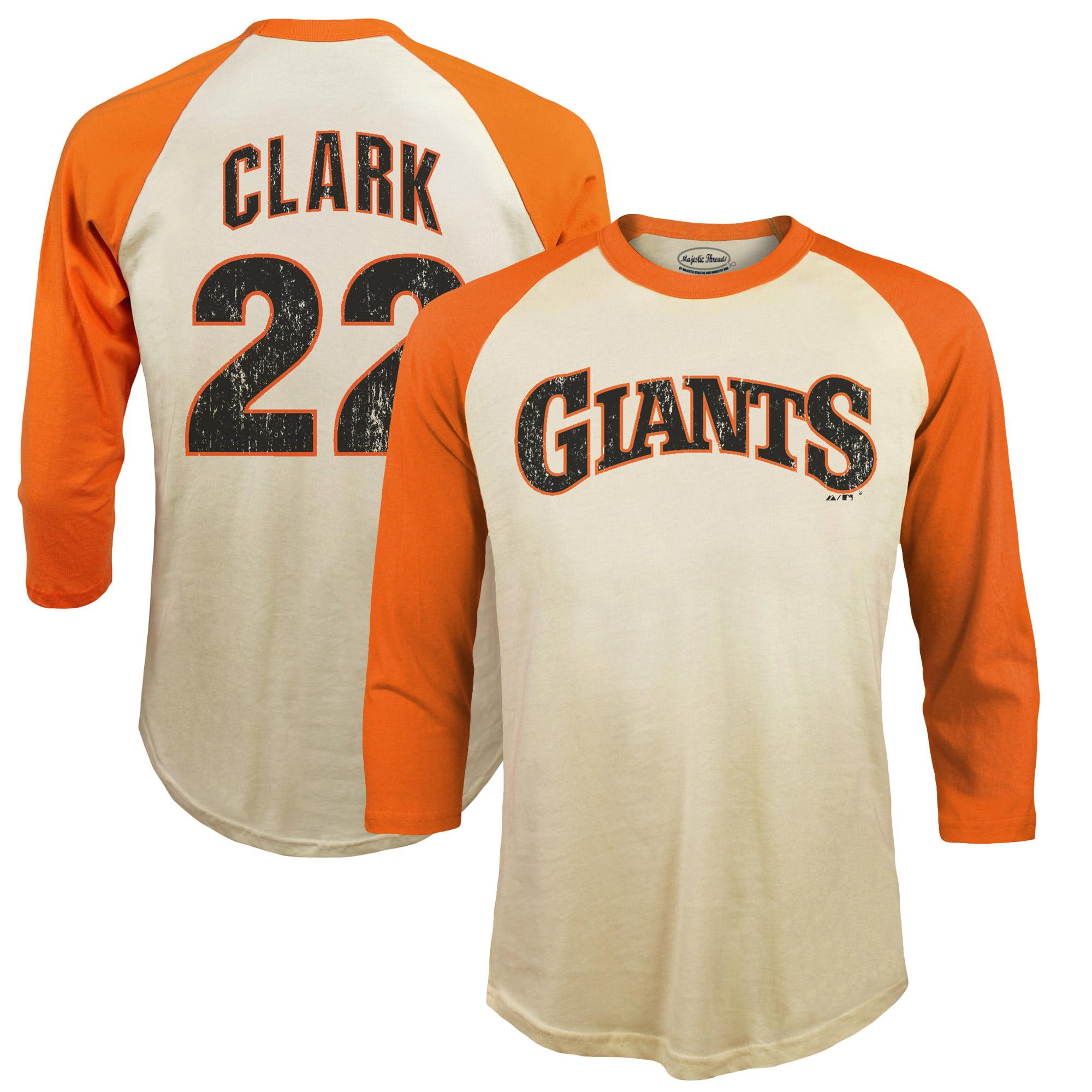 Will Clark San Francisco Giants Majestic Threads Softhand Cotton Cooperstown 3/4-Sleeve Raglan T-Shirt - Cream