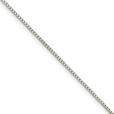 Octagon Prism Chandelier Chain - 1.25mm Sterling Silver Diamond Cut Octagon Box Chain Necklace