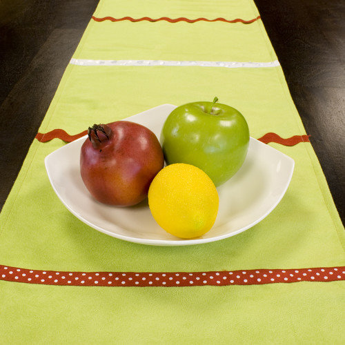 Brite Ideas Living Passion Suede Table Runner