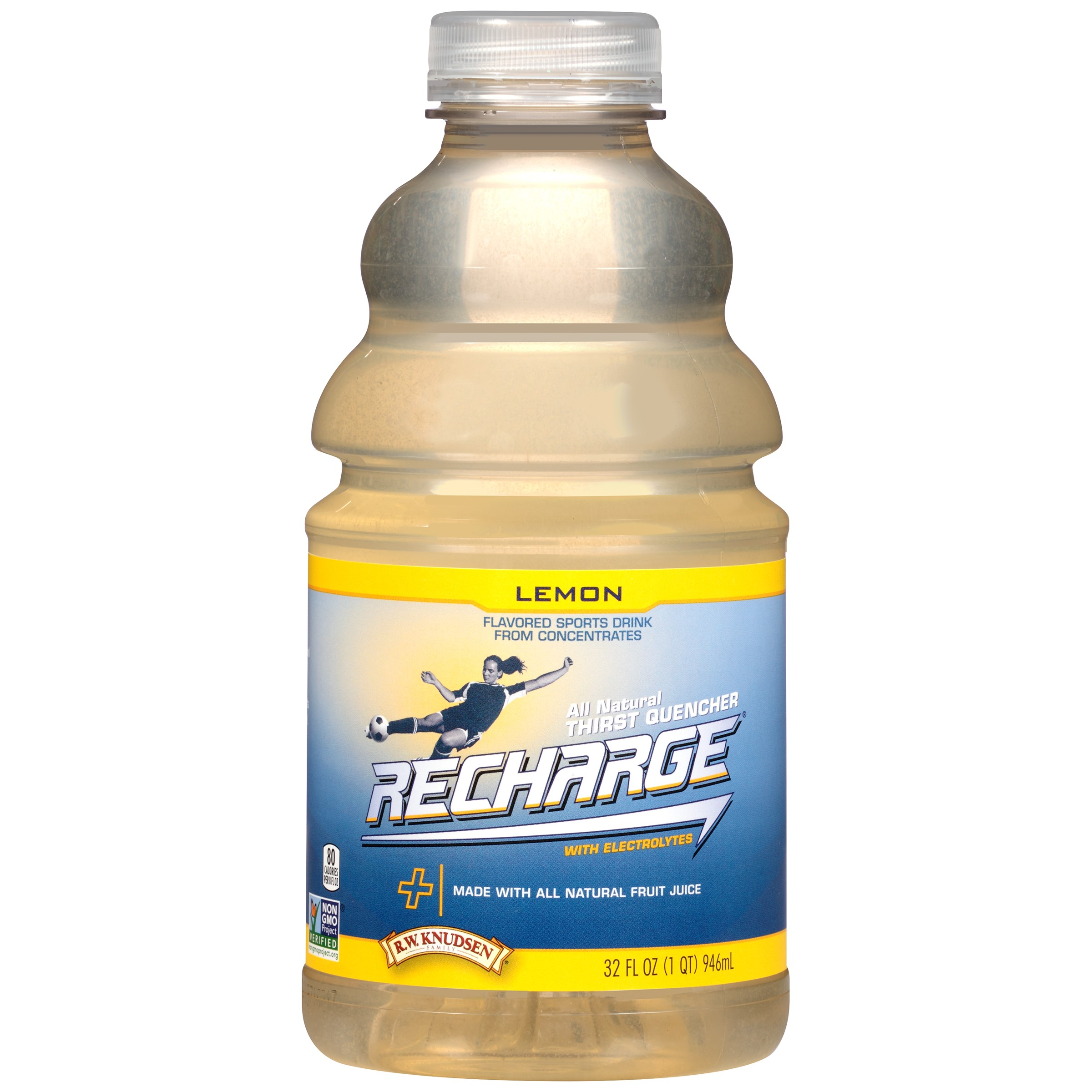 R.W. Knudsen Recharge, Lemon, 32 Fl Oz, 1 Ct