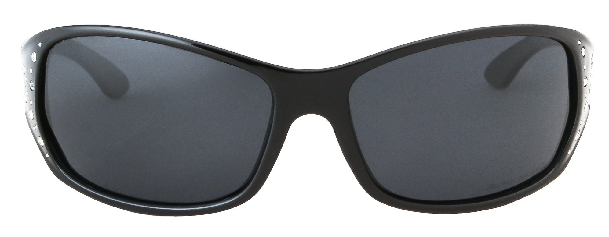 HZ Series Elettra Women's Premium Polarized Sunglasses by Hornz Midnight Black Frame Dark Smoke Lens