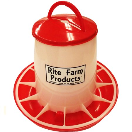 LARGE RITE FARM PRODUCTS HD 13.2 POUND CHICKEN FEEDER LID & HANDLE POULTRY (Poultry Farm Supplies)