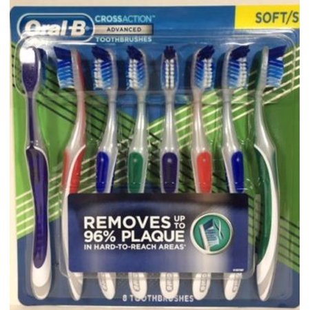 ral-B CROSS ACTION Advanced 8 Toothbrushes SOFT/S