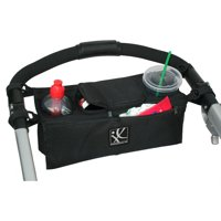 J.L. Childress Sip 'N Safe Console Tray, Attachable Stroller Organizer, Black