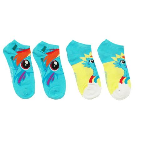 Rainbow Dash 2 Pair Ankle Socks Pack