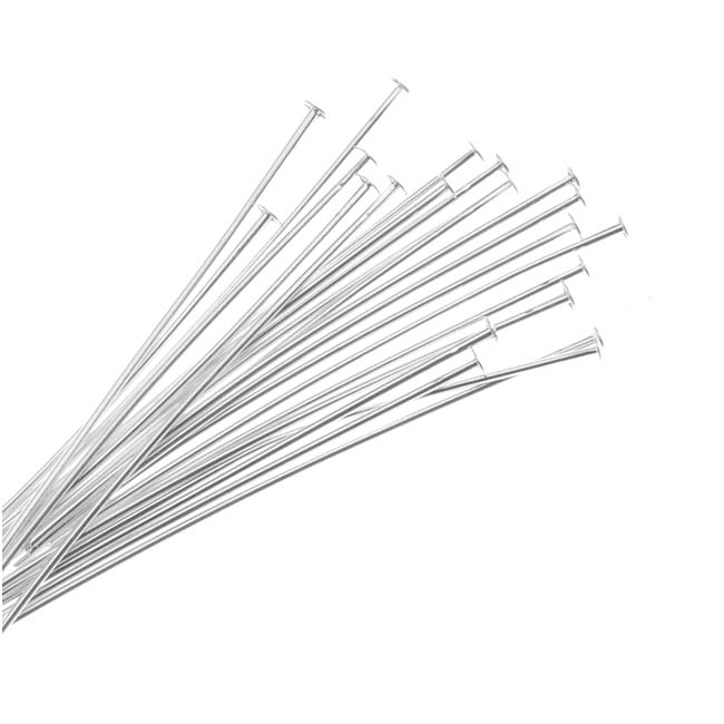 Silver Plated Head Pins 1.5 Inches/22 Gauge (X50)