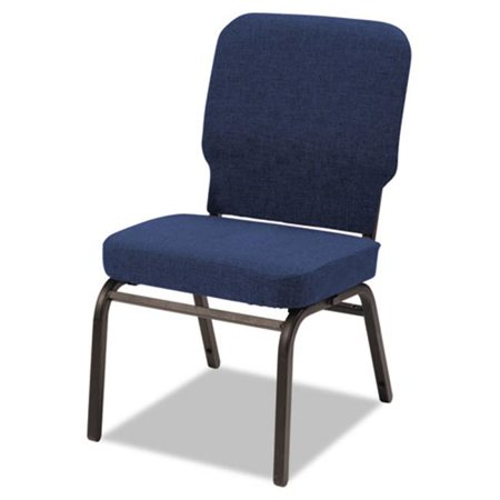 Image of Alera BT6620 Oversize Stack Chair, Navy Fabric Upholstery, 2/Carton