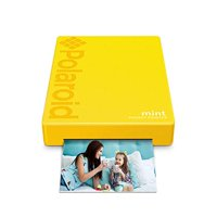Polaroid Mint Wireless Mobile Photo Mini Printer (Yellow) Compatible W/iOS & Android, Bluetooth Devices